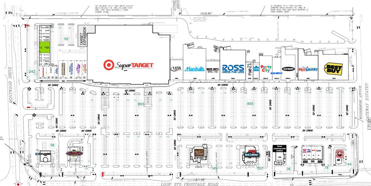 El Paseo Marketplace Site Plan