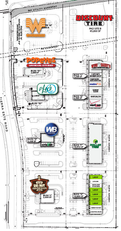 The Shops at Tierra Este El Paso Texas Retail Space