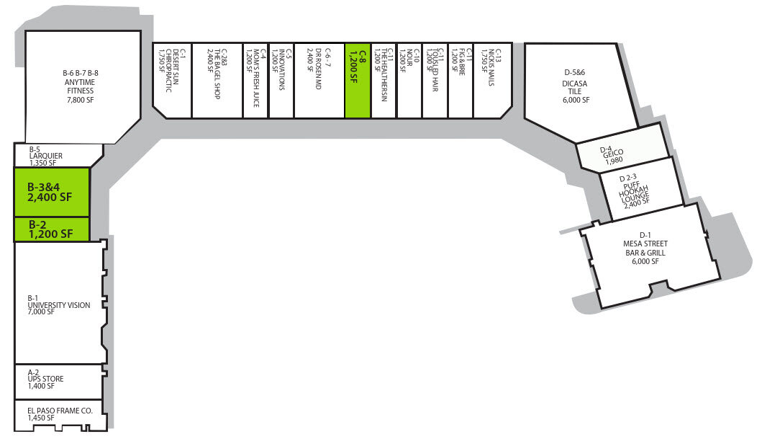 University Hill Plaza Site Plan