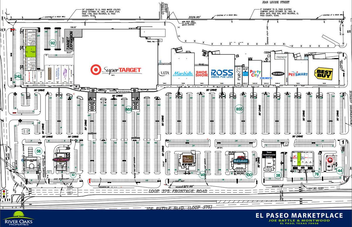 Pad - El Paseo Marketplace Site Plan